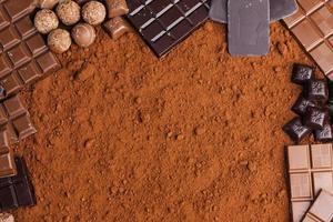 Schokolade in Kakao foto