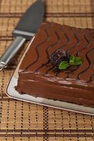 Schokoladenblechkuchen foto