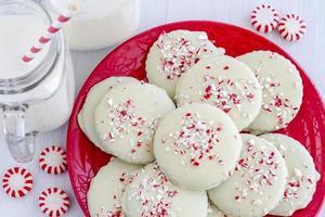 Schokoladen-Pfefferminz-Weihnachtsplätzchen foto