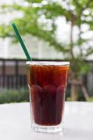 eisschwarzer Kaffee, Americano. foto