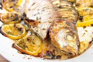 Gekochter Fisch foto