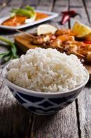 weißer gekochter Reis foto