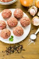 Fleischbällchen kochen foto