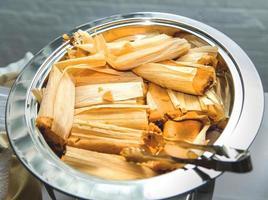 Tamales bereit zu essen foto