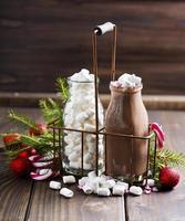 heißer Kakao mit Marshmallows foto