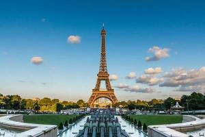 der eiffelturm in paris, frankreich foto