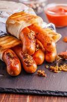 gegrillter Hot Dog