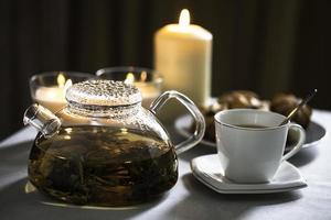 Tasse Tee und Teekanne