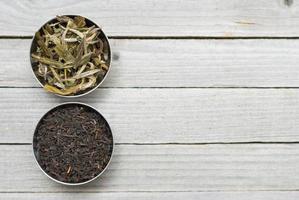getrocknete Teeblätter