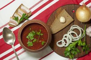 traditionelles ukrainisches Mittagessen foto