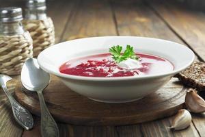 borsh. russisches traditionelles Gericht foto
