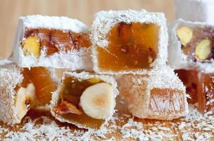 Dessert. türkische, arabische Süßigkeiten. foto