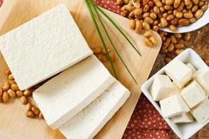 Sojabohnen mit Tofu foto