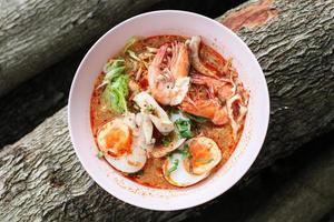 Tom Yum Kung Thai Essen Gewürz und lecker foto