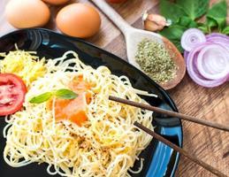 Spaghetti-Abendessen foto