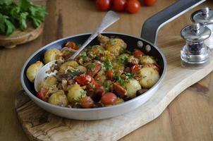 Makrele und Chorizo-Hasch foto