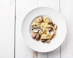 Meeresfrüchte Pasta mit Muscheln foto