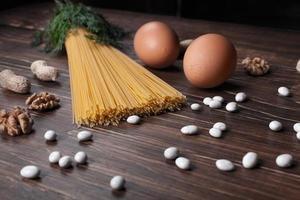 die italienischen Produkte auf dem Etikett. 2 foto
