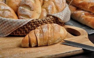 französisches Brot Mini Baguettes foto