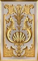 goldenes Basrelief. foto
