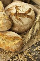 frisch gebackenes traditionelles Brot foto