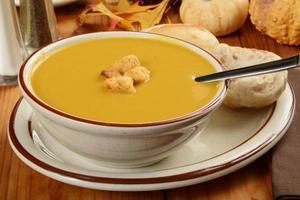 Butternut-Kürbis-Suppe foto