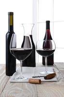 High Key Wein Stillleben foto