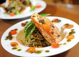 Spaghetti Fisch foto