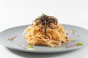 Pasta im japanischen Stil foto