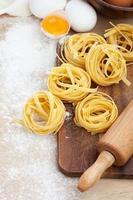 rohe hausgemachte Pasta foto