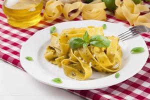 Pasta Tagiatelle mit Pesto
