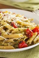 leichte hausgemachte Pesto Pasta