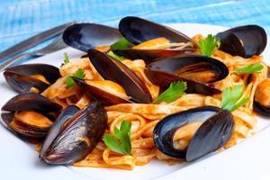 Pasta mit Muscheln Meeresfrüchten