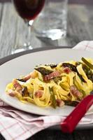 italienisches Essen. Pasta Carbonara.