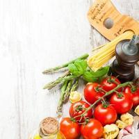italienischer Essenshintergrund foto
