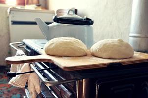 hausgemachtes Brot der Großmutter foto
