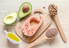 Lebensmittel mit ungesättigten Fetten foto