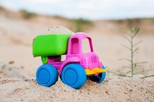 LKW im Sand foto