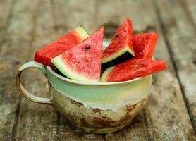 Scheiben Wassermelone foto