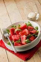 Wassermelonen-Rucola-Salat foto