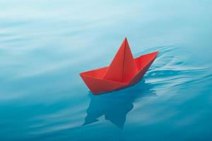 Papierboot segeln