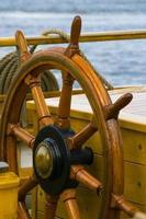 Ruder des Segelboots foto