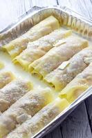 gebackene Cannelloni kochen foto