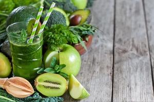 grüner Smoothie-Hintergrund foto