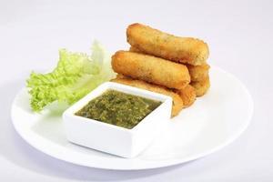 Mais & Kartoffelkotelett - indischer Snack foto