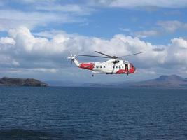britischer Küstenwachenhubschrauber foto