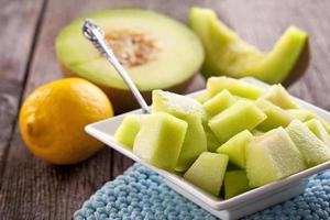 frische Melone zum Frühstück foto