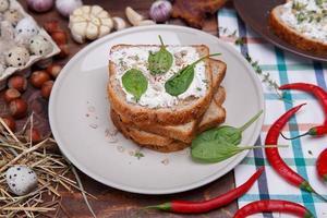 Sandwich mit Weichkäse foto