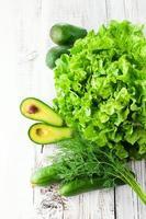 Mischung aus grünem Gemüse foto
