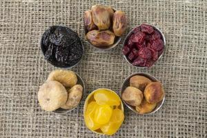 abstrakte Ansicht der getrockneten Früchte foto